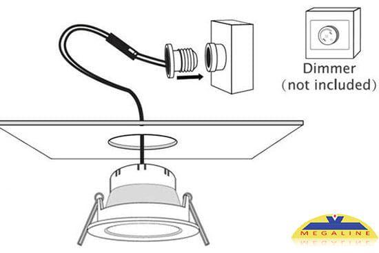 Cách lắp đèn led âm trần có đui xoáy