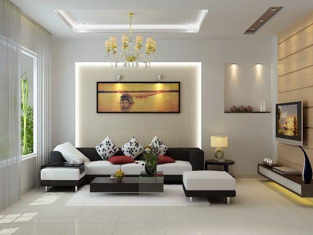 Lựa chọn đèn led trang trí trần nhà phòng khách