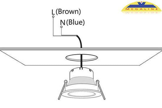 Hướng dẫn lắp đèn led âm trần loại không có đui xoáy