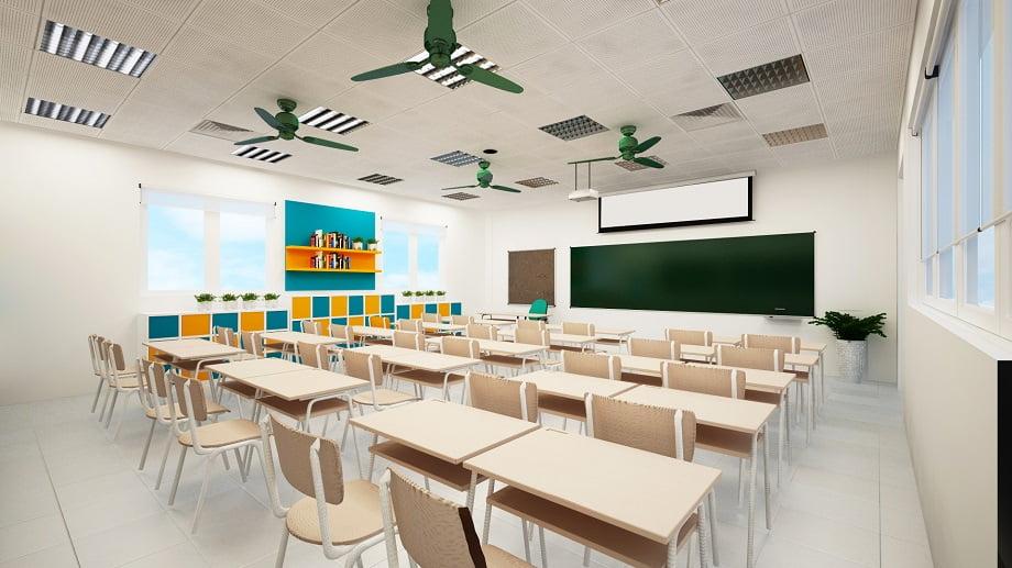Ứng dụng của bóng đèn led trường học Rạng Đông