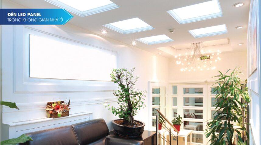 Ứng dụng ánh sáng của Đèn led panel
